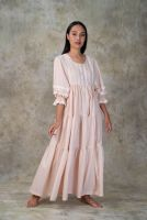 NEW! Peach Cotton dress- ANNEE