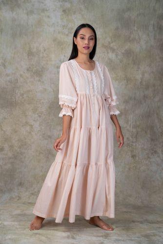 NEW! Peach Cotton dress- ANNEE