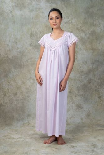 NEW! Light Purple Cotton Nightdress- CK 4 PP