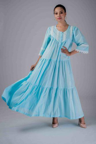 NEW! Blue Cotton dress- MANE
