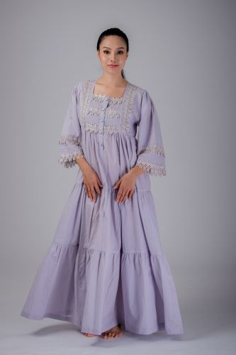 NEW! Gray Cotton Nightdress - REBAL GY3