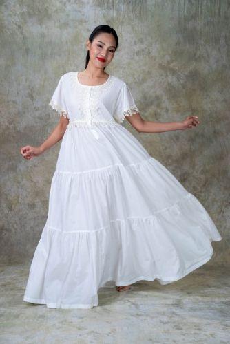 NEW! Off White Cotton Nightdress- NENA C3