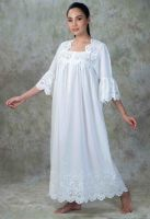 NEW! Luxury Cotton Lace Nightdress - Mareo
