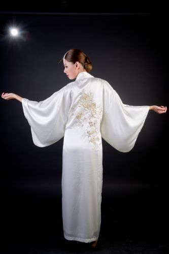 Satin Kimono - Em