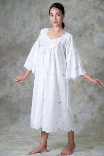 NEW! Cotton Embroidered Nighty - JUDY