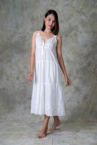 NEW! Cotton Embroidered Nighty 3 CHADA