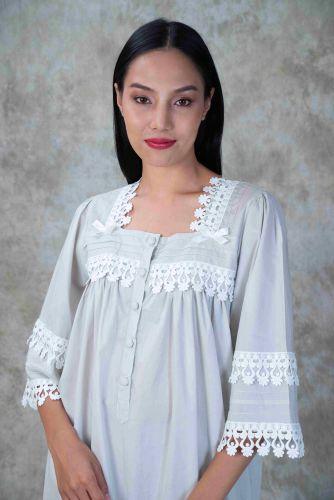 NEW! Light Gray Cotton dress- MARON