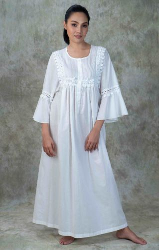 NEW! Cotton Lace Nightgown