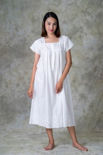 NEW! Cotton Embroidered Nighty LUCY