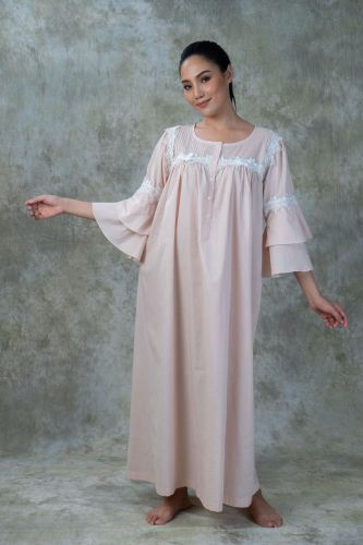 NEW! Peach Cotton Nightdress